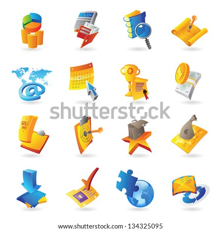 Icons for business and finance. Raster version. Vector version is also available.