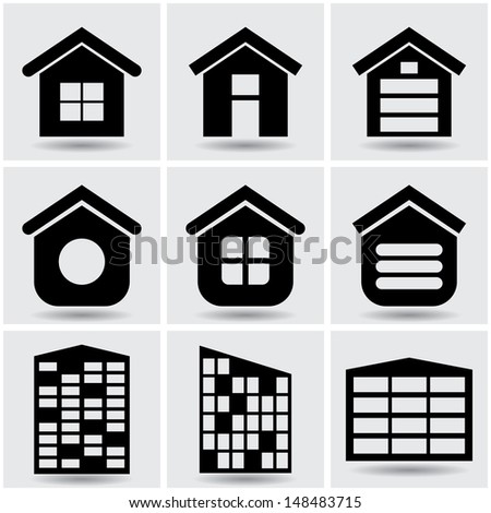 icons houses.  set2.(vector version also available in my gallery)