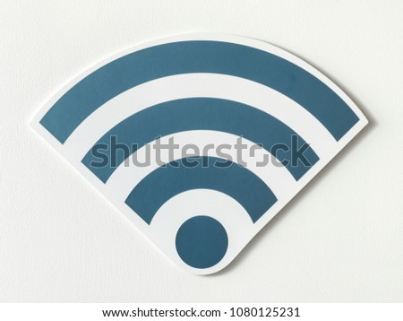 Icons of a strong signal of wifi #1080125231
