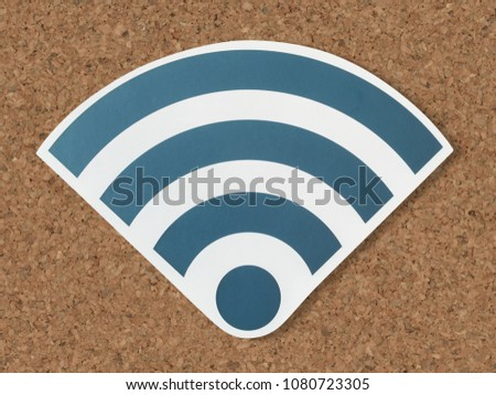 Icons of a strong signal of wifi #1080723305