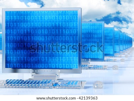 Icy glass computer in a network