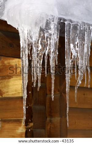 Icy Hang - stock photo
