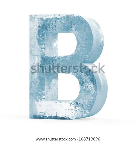 Icy Letters isolated on white background (Letter B)