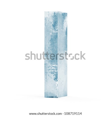 Icy Letters isolated on white background (Letter I)