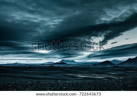 Stock Photo icy mountain iceland