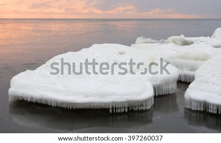 Icy shore #397260037