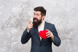 Id let my heart be yours. Bearded man with red heart point finger. Valentines day donation. Organ donation matters. Be donor. Donor day. Send your donor some love. Living donor makes miracles happen.