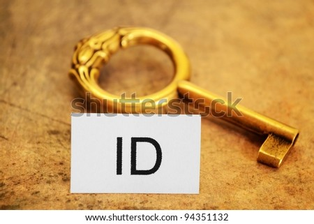 Id tag and old gey