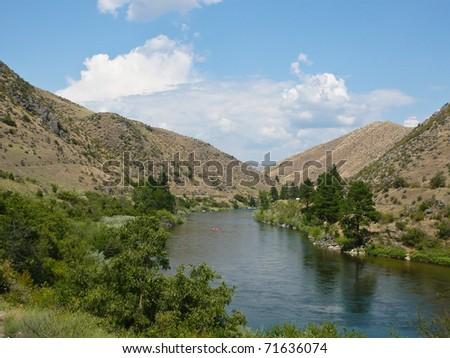 Idaho canyon river