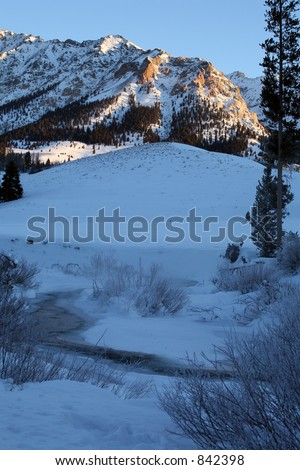 Idaho Winter Sunrise - stock photo