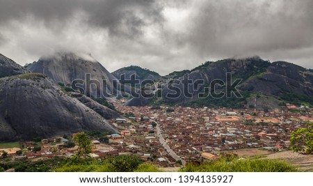 Idanre Hill , an awesome and beautiful natural landscapes in Nigeria. The people people of Idanre lived on these massive rocks for over a hundread year. Just under 30 kilometres southwest of Akure, On #1394135927