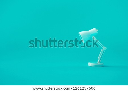 Idea and creativity concepts with lamp on pastel color background.Business solution (Photo)