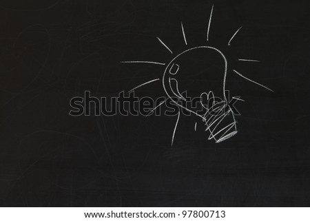 idea bulb on blackboard background