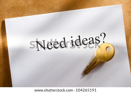 Idea conception with key