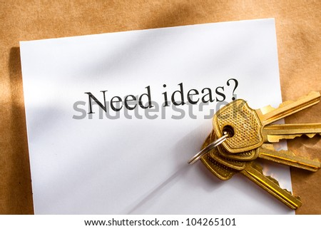 Idea conception with keys