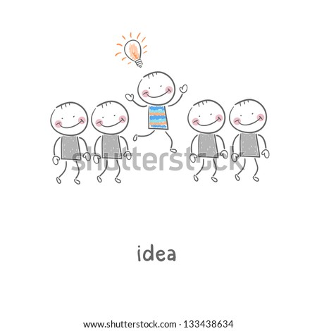 Idea. Illustration. - stock photo