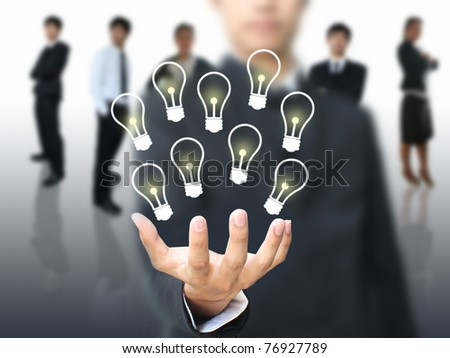 Idea in business hand