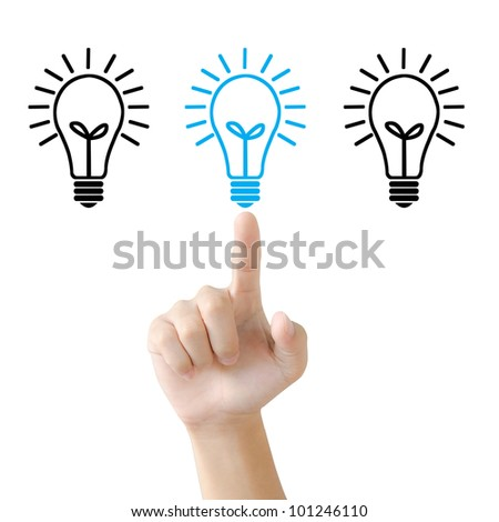 idea, light bulb, hand