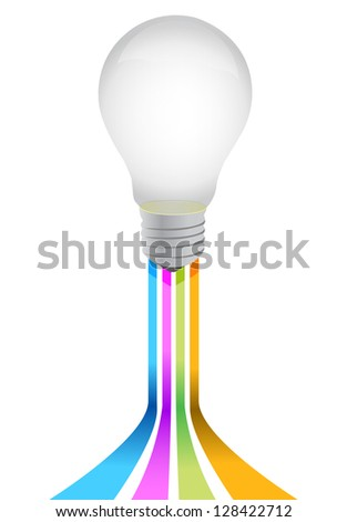 idea light bulb illustration design over a white background