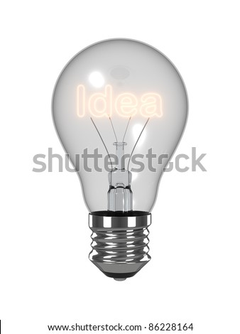 Idea light bulb. Isolated on the white background.