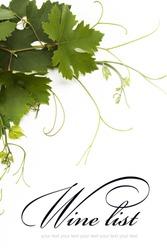 idea of the concept design for a wine list
