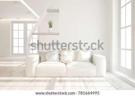 idea of white minimalist room...