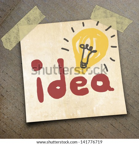 idea on the shortnote paper on the packing paper box texture background
