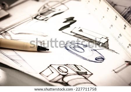 idea sketch of product design
