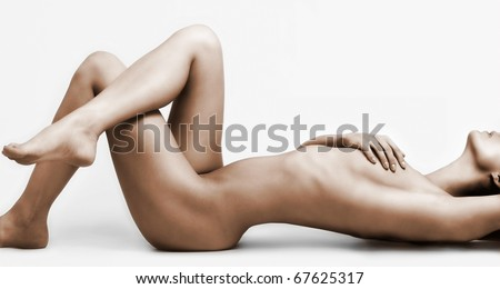 Ideal woman`s naked body