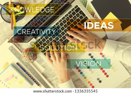 IDEAS AND WORKPLACE CONCEPT