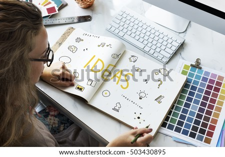 ideas Strategy Action Design Vision Plan Concept - Shutterstock ID 503430895