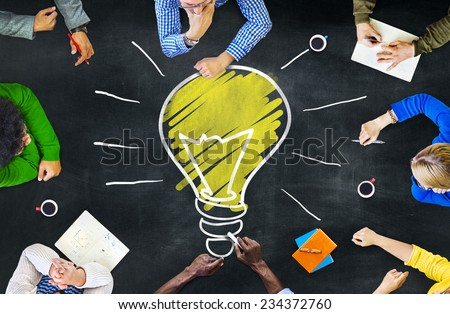 Ideas Thoughts Knowledge Intelligence Learning Thoughts Meeting Concept Foto stock ©