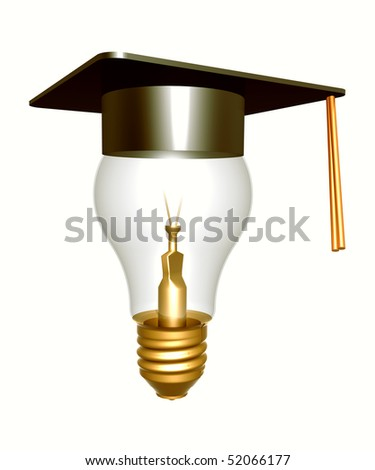 Ideas through education and knowledge icon symbol