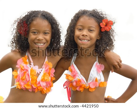 African American Identical Twins Identical twin sisters dressed