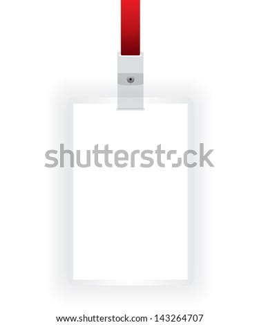 Identification card blank - stock photo