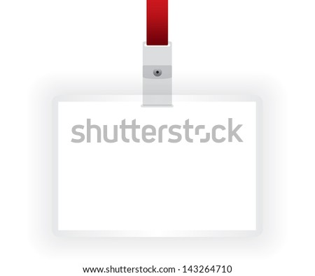 Identification card blank illustration
