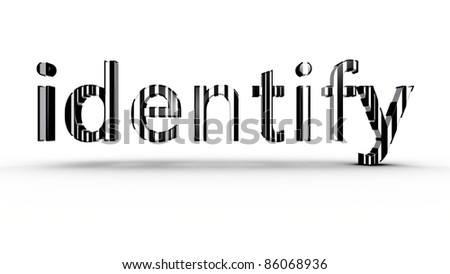 Identification concept using black and white bar code