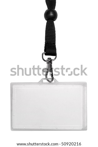 Identity card isolated on white
