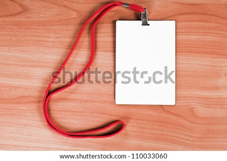 Identity card on wooden table