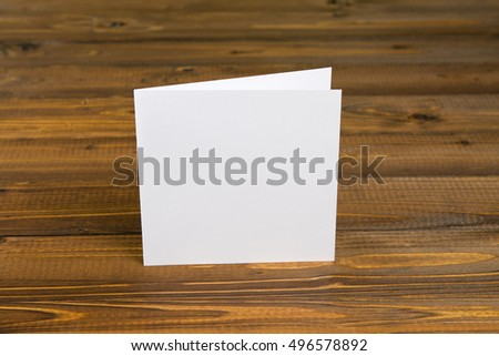 identity design, corporate templates, company style, blank white folding paper flyer #496578892