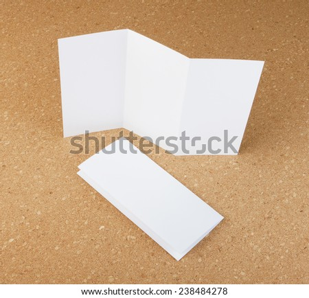 identity design, corporate templates, company style, set of booklets, blank white folding paper  flyer