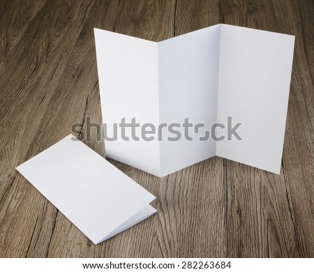 identity design, corporate templates, company style, set of booklets, blank white folding paper flyer #282263684