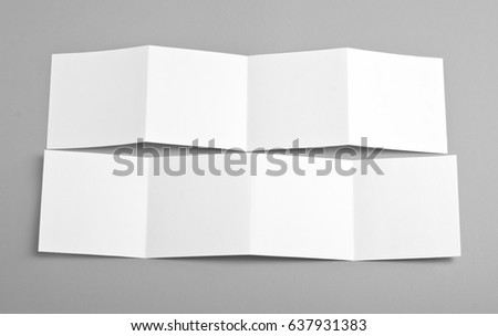 Identity design, corporate templates, company style, set of booklets, blank white folding paper flyer #637931383
