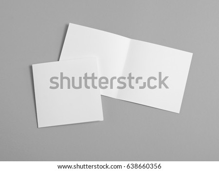 Identity design, corporate templates, company style, set of booklets, blank white folding paper flyer #638660356