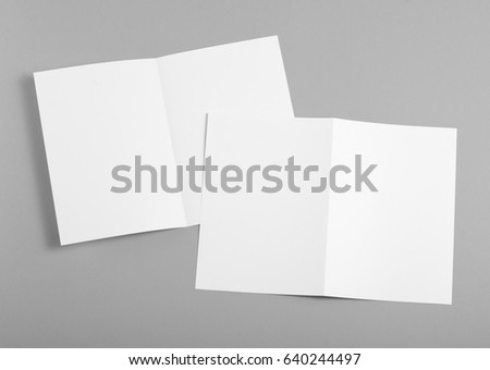 Identity design, corporate templates, company style, set of booklets, blank white folding paper flyer #640244497