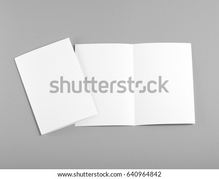 Identity design, corporate templates, company style, set of booklets, blank white folding paper flyer #640964842