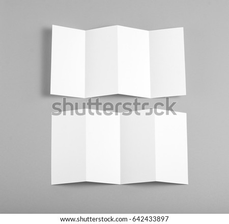 Identity design, corporate templates, company style, set of booklets, blank white folding paper flyer #642433897