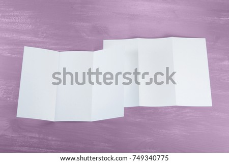 identity design, corporate templates, company style, set of booklets, blank white folding paper flyer #749340775