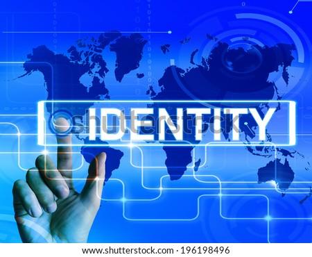 Identity Map Displaying Worldwide or International Identification or Brand