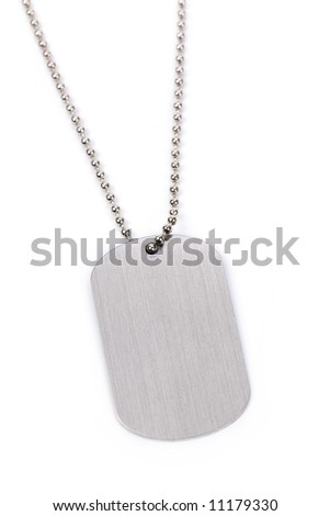Identity tag with chain close up shot